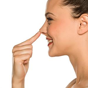 Augen-Nasen-Mundbereich